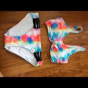 Victoria's Secret PINK NWT tie dye bikini